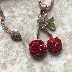 [NWOT] Betsey Johnson Cherry Necklace 🍒